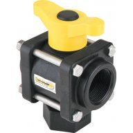 Banjo Polypropylene 3 Way Ball Valves